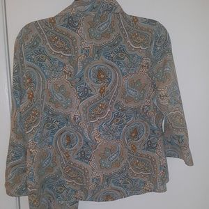 Bay Studio Tops - colorful blouse 3/4 sleeve small/petite